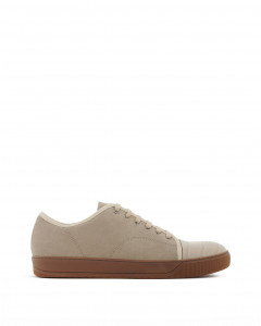 DBB1 SNEAKERS IN SUEDE AND CROCODILE-EMBOSSED NAPPA CALFKIN LEATHER