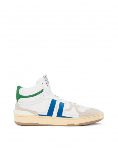 LEATHER CLAY HIGH-TOP trainers