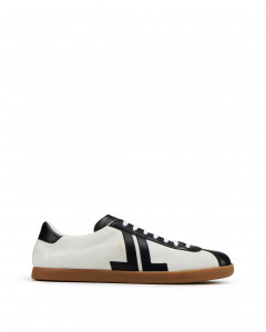 DUAL-MATERIAL GLEN LOW-TOP SNEAKERS