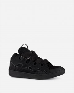 LEATHER CURB SNEAKERS