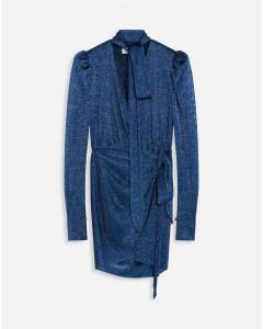 LUREX DRAPED DRESS