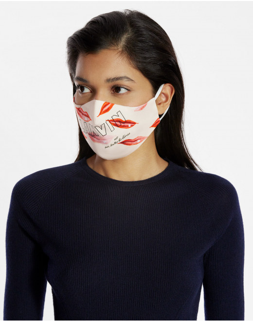 "PACK OF 2 MASKS WITH ""LANVIN EST SUR TOUTES LES LEVRES""(""LANVIN IS ON EVERYONE'S LIPS"") PRINT"