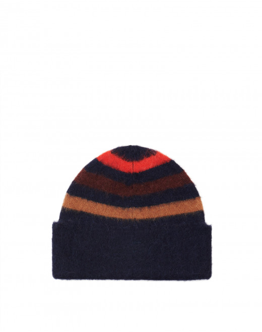 STRIPED HAT IN CASHMERE BLEND