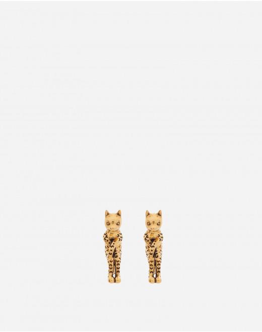 BRASS CAT EARRINGS