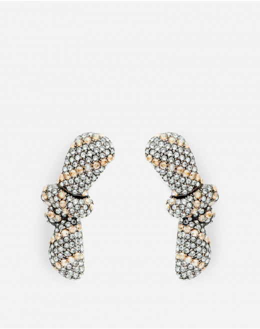 BOWS EARRINGS WITH STRASS
