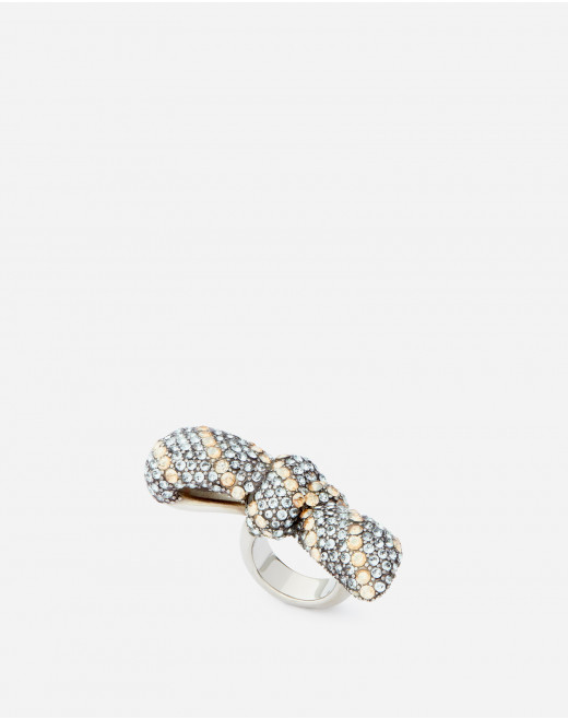 BOWS RING WITH STRASS