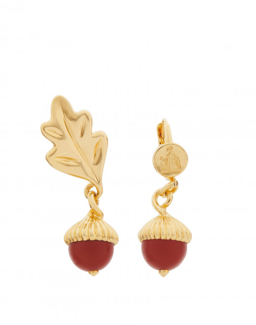 AUTUMN DAY EARRINGS WITH CARNELIAN
