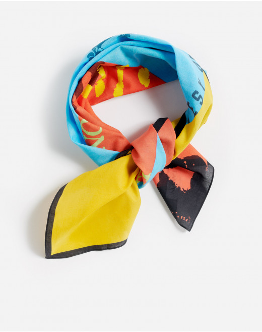 GALLERY DEPARTMENT PRINT COTTON SQUARE SCARF