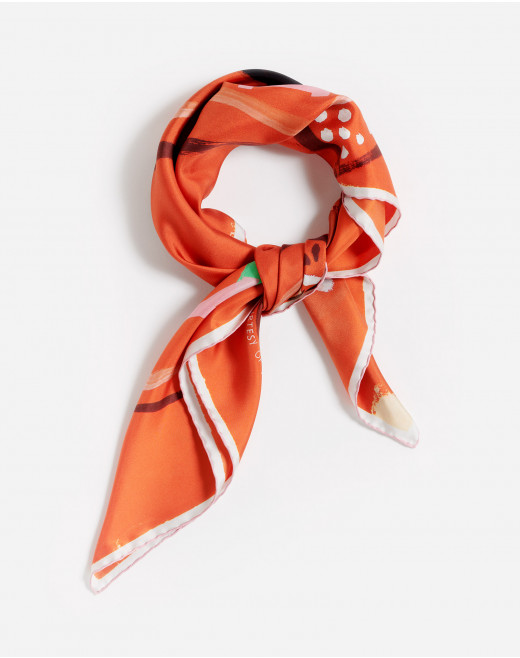 GALLERY DEPARTMENT PRINT SILK SQUARE SCARF