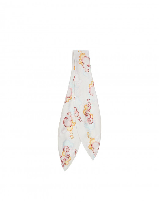 CLOUDS PRINT SILK SCARF