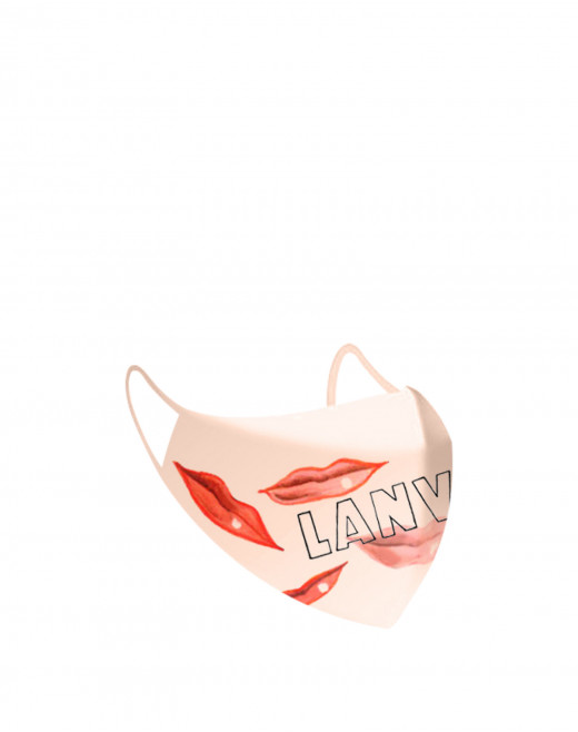 "PACK OF 2 MASKS WITH ""LANVIN EST SUR TOUTES LES LÈVRES"" (""LANVIN IS ON EVERYONE'S LIPS"") PRINT"