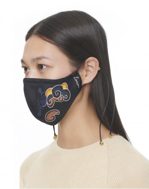 CLOUDS PRINT SILK MASK