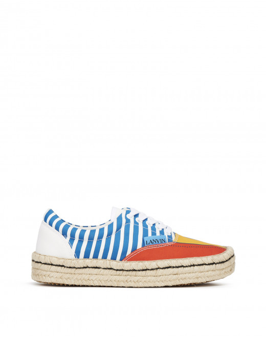 ESPADRILLE SNEAKERS IN COTTON CANVAS
