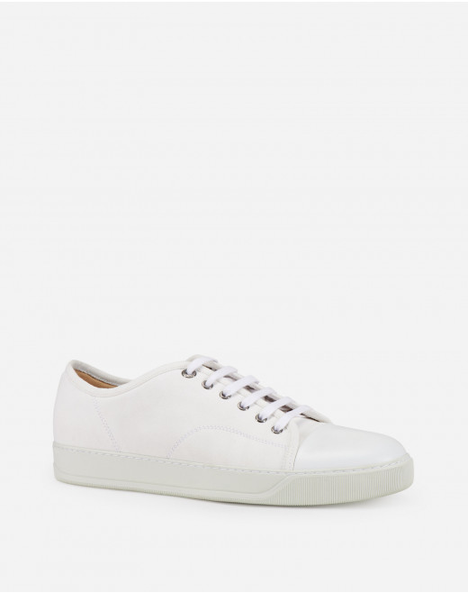 DBB1 COTTON AND LEATHER SNEAKERS