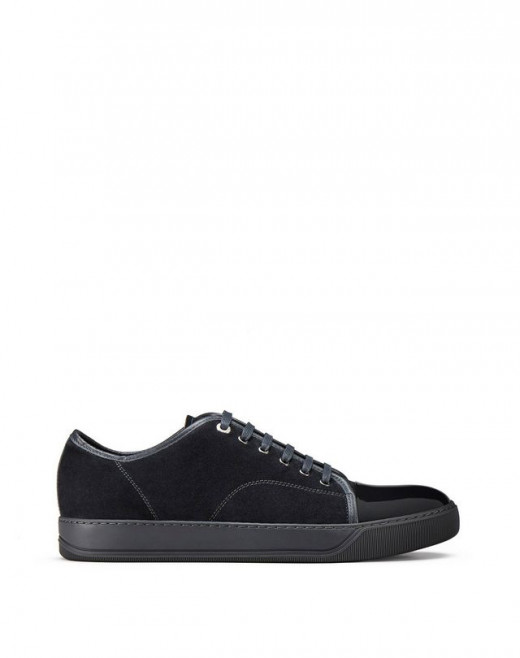 DBB1 SUEDE AND PATENT LEATHER SNEAKERS
