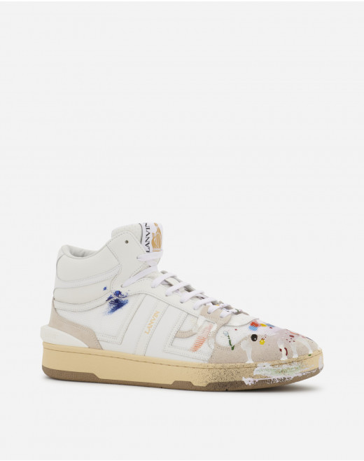 PAINTED MESH CLAY HIGH-TOP SNEAKERS