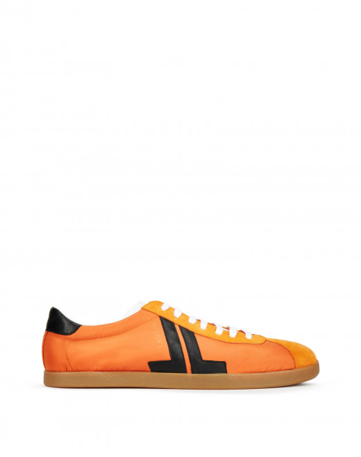 LOW-TOP NYLON, NAPPA AND CALFSKIN SNEAKERS