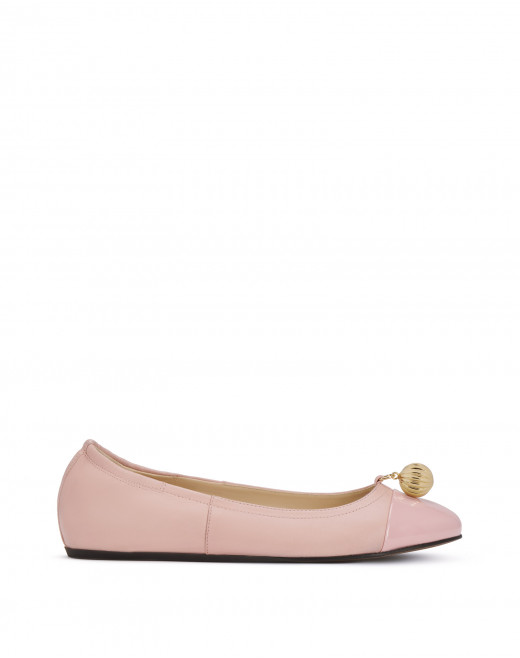 NAPPA LEATHER BALLET FLATS WITH ARPEGE EMBELLISHMENT