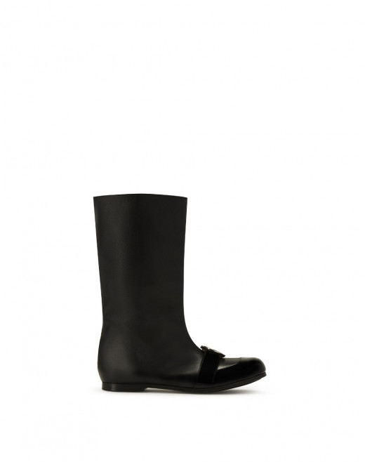JANE BOOTS IN GRAINED CALFSKIN LEATHER