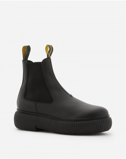 LEATHER ARPÈGE ANKLE BOOTS
