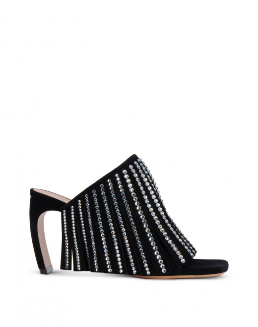 FRINGE AND RHINESTONE J MULES