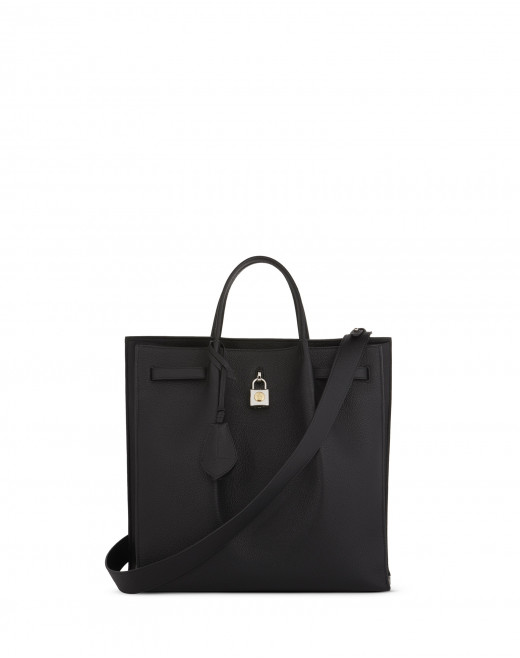 GRAINED LEATHER NORTH SOUTH BOGEY BAG
