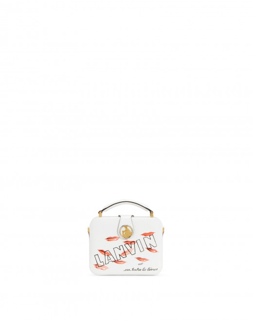 BENTO MINAUDIERE IN PATENT CALFSKIN LEATHER WITH LIPSTICK PRINT