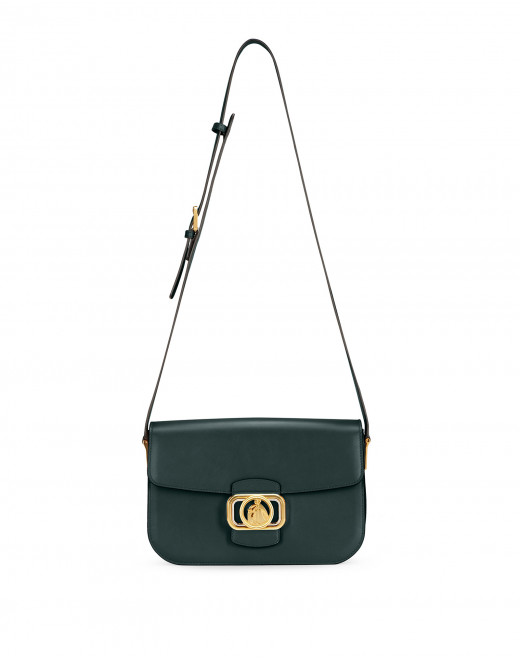SWAN BOX BAG MM IN CALFSKIN LEATHER