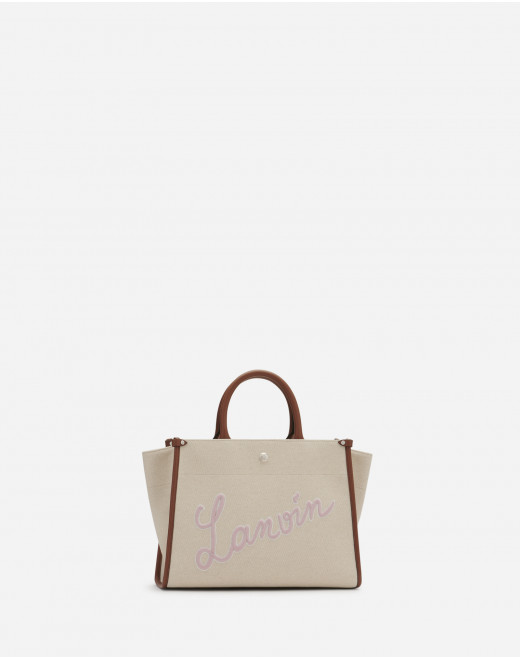EMBROIDERED CANVAS IN&OUT BAG SM