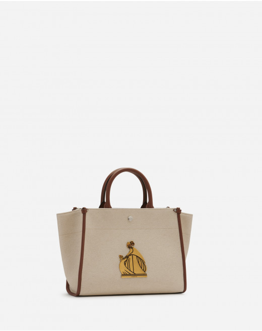 CANVAS IN&OUT BAG SM WITH PLAQUE