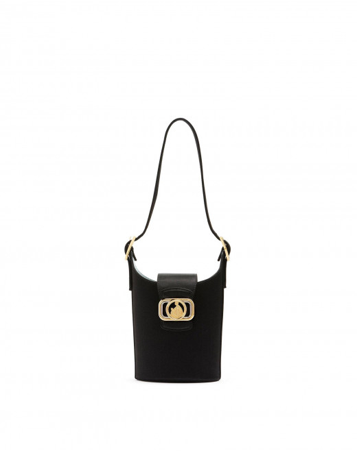 SATIN SWAN BUCKET BAG