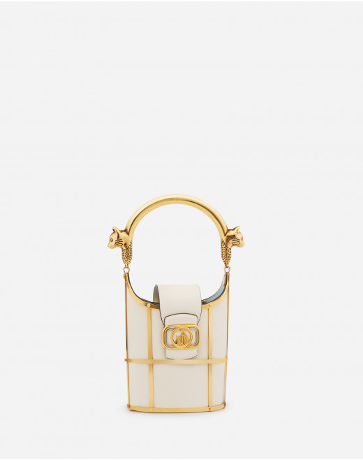 SWAN BUCKET BAG IN SHINY CALFSKIN