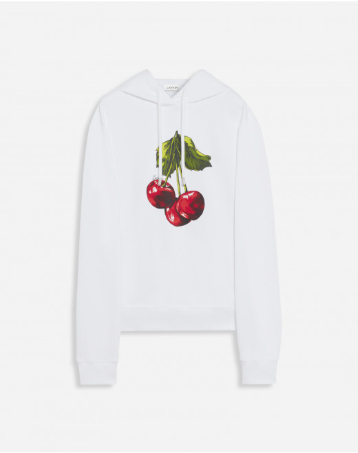 HOODIE WITH CHERRY SCENTED PRINT