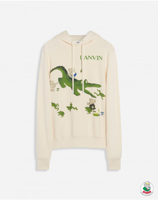"BABAR ""BOOK OF COLORS"" CROCODILE PRINTED HOODIE"