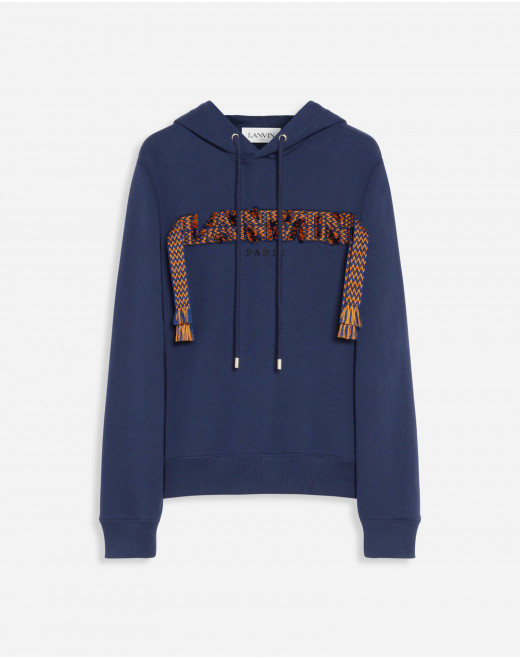 HOODIE EMBROIDERED WITH LACE CURB