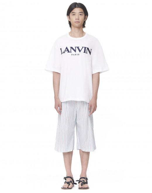LANVIN EMBROIDERED OVERSIZE T-SHIRT