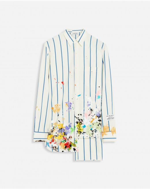 LANVIN X GALLERY DEPT. PATCHWORK SHIRT WITH PAINT MARKS
