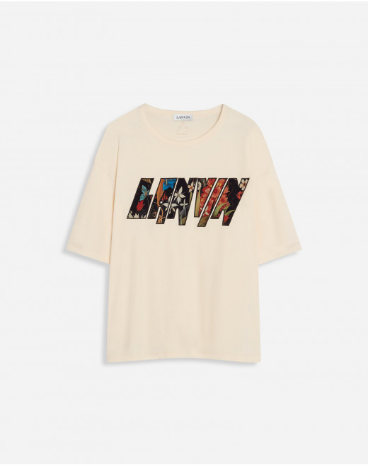 T-SHIRT WITH LANVIN APPLIED
