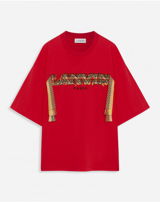 OVERSIZE T-SHIRT WITH LACE CURB EMBROIDERY
