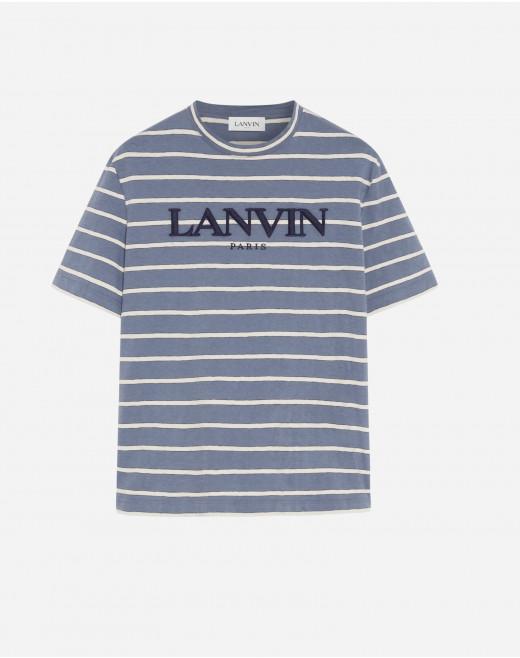 LANVIN EMBROIDERED STRIPE T-SHIRT