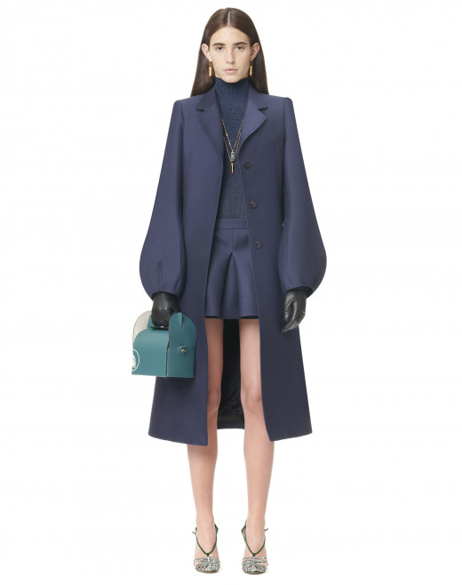 TAILORED COAT WITH BALLOON SLEEVES