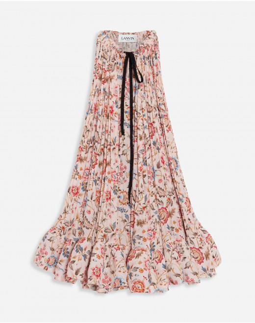 LIBERTY PRINTED SLEEVELESS CHARMEUSE DRESS