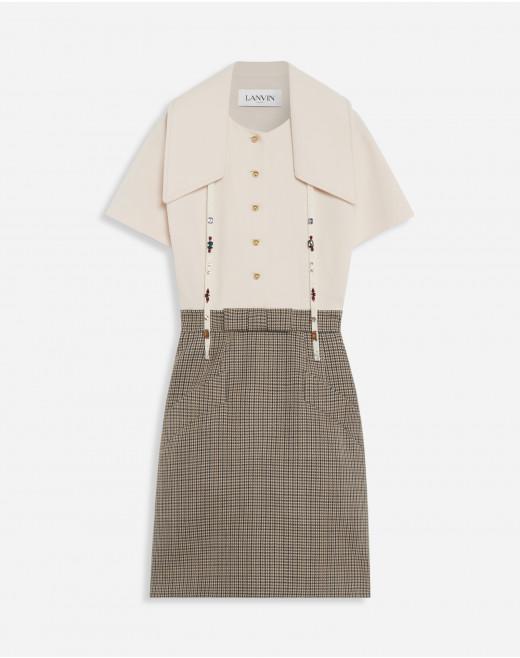 DUAL-MATERIAL CLOSE FIT DRESS