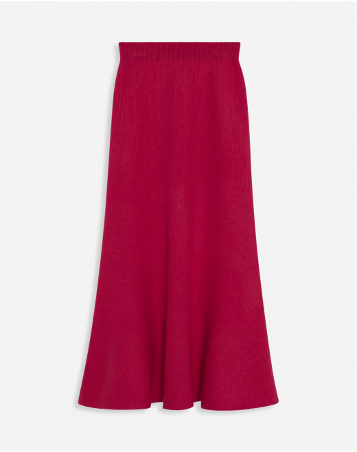 FIT AND FLARE MEDIUM-LENGTH SKIRT
