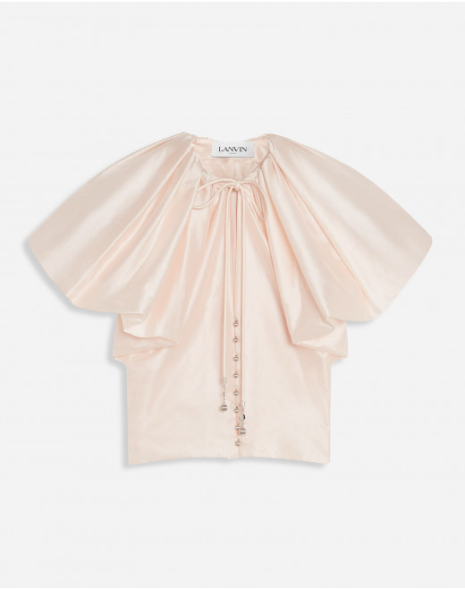 BALLOON SLEEVES SHORT BLOUSE