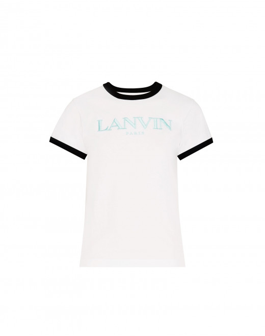 "EMBROIDERED ""LANVIN"" SHORT-SLEEVED COTTON T-SHIRT"