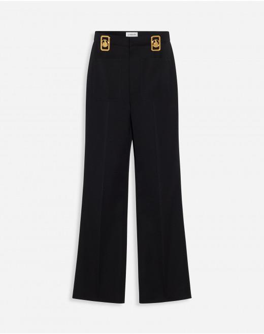 HIGH-WAISTED PANTS WITH SILK SCARF