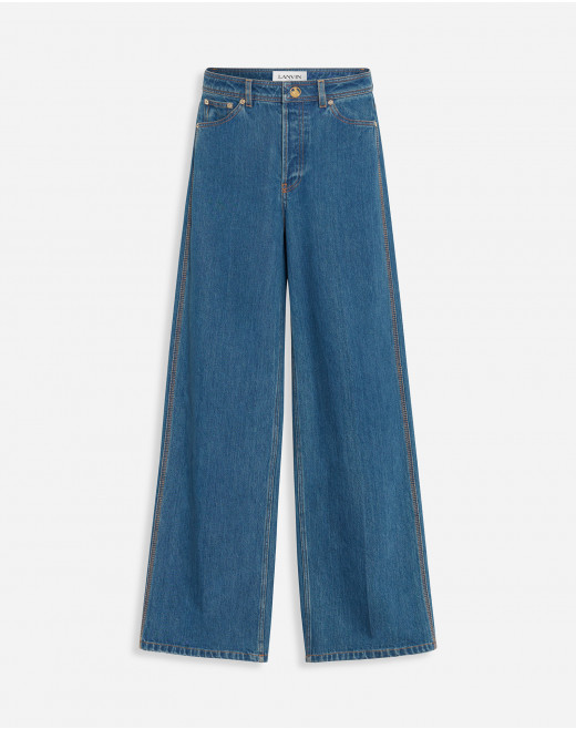 PANTALONI AMPI IN DENIM