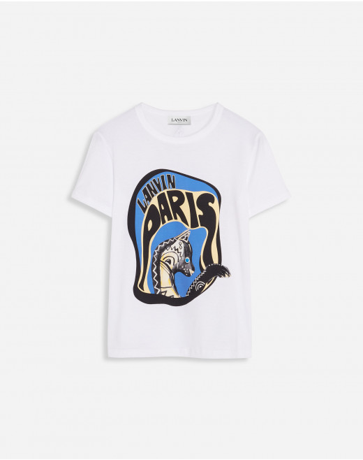 LANVIN EMBROIDERED REGULAR T-SHIRT