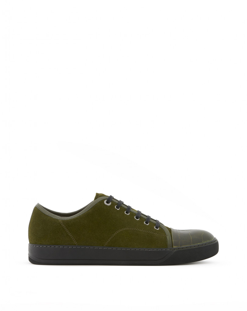Details about  /Lanvin Men/'s Calf Hair and Suede Skate Sneaker Brown//Khaki MSRP $670